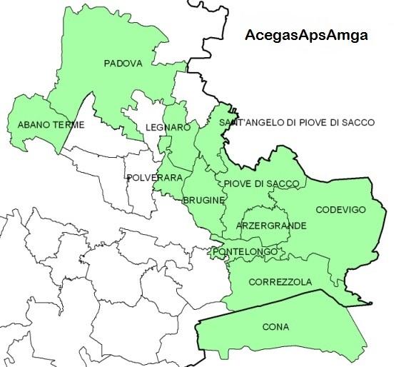Mappa Comuni AcegasApsAmga